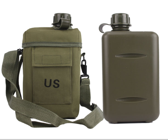 2L capacity US army square water canteen water bottle US Army Military Outdoor Drinking Canteen Water Bottle