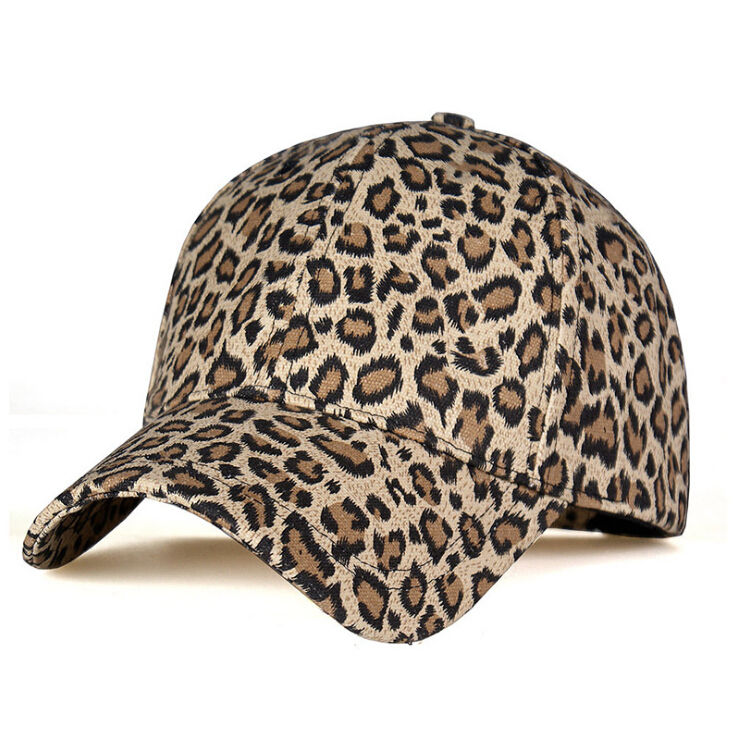Hot Sale Classic Cotton Leopard Baseball Cap Unisex Hat Adjustable Plain Caps