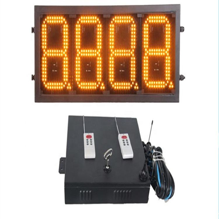 7 segment outdoor green 12'' 8.889/10 digital numbers gas/oil/petrol station price led display with RS232/RF