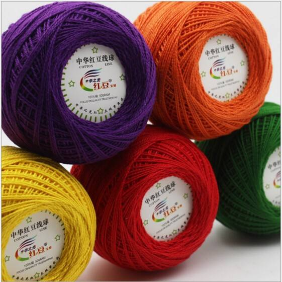 100% cotton pearl thread for crochet / lace thread