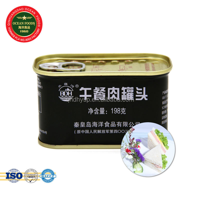 Pork Luncheon Meat canned meat for sale, Chinese military canned