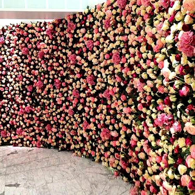 Artificial Flower Wall For Wedding Backdrop Stage Background Decoration