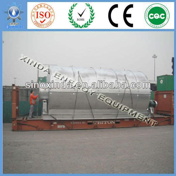 100% безопасности синьсян xinda отходы шины энергии пиролиза оборудования