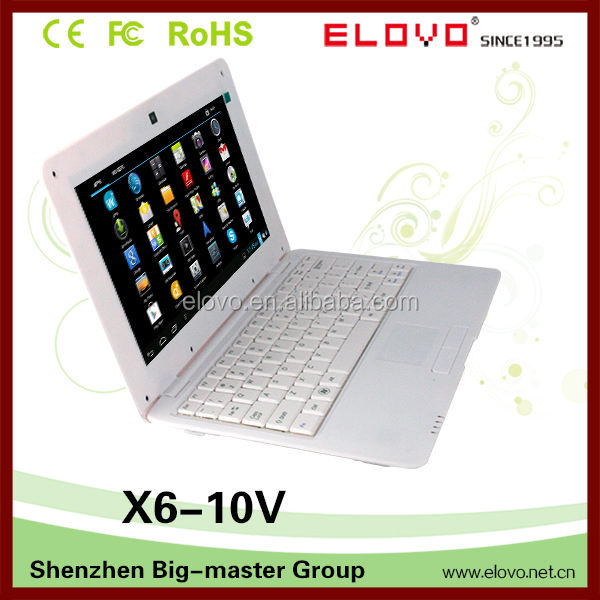 Harga laptop murah komputer di cina 10 inch android 4.1 VIA WM8850 harga rendah mini laptop
