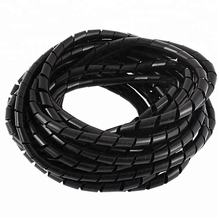 "6mm 1/4""  PE Spiral Cable Wire Wrap Tube Organizer Management cable management tube"