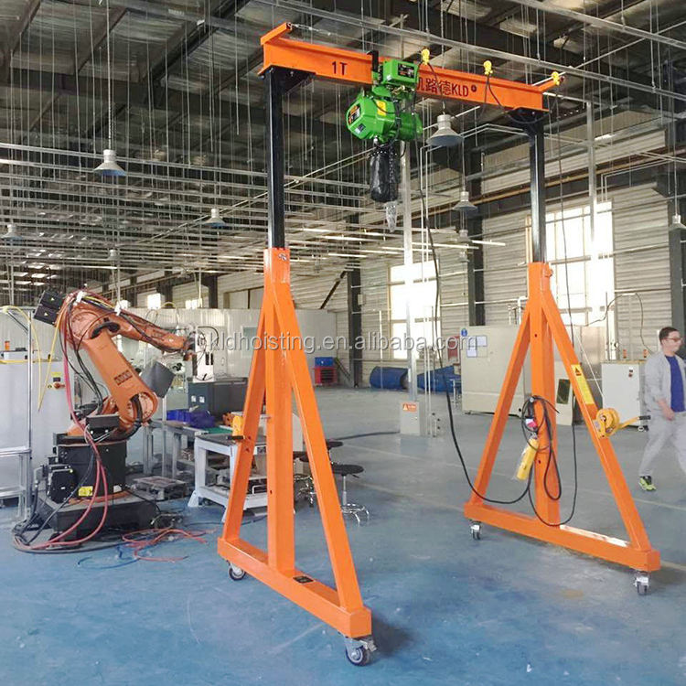 Heavy Lfting Machinery Electric Wire Rope Hoist Single Girder 10 Ton Gantry Crane Price