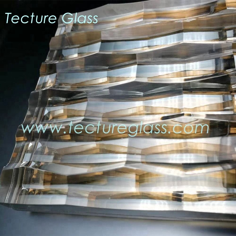 Tecture specialty laminated art carving glass for interior decorations
