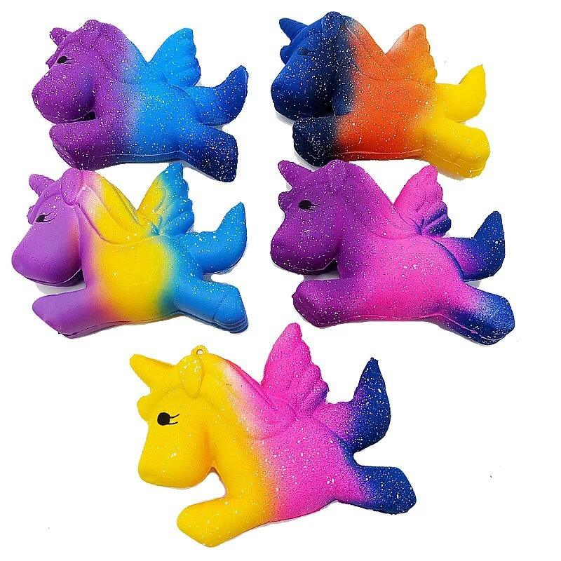 Amazon 2019 Newest Galaxy Color Unicorn Horse Squishy Slow Rising Jumbo Kawaii Squishy Toy
