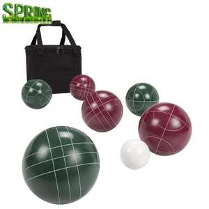 High quality Competition standard ball Bocce resin material sport game 107mm bocce ball set FREE carry bag