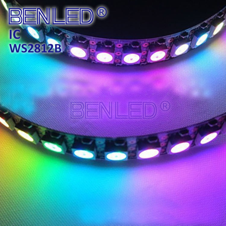 Direccionable WS2812 Pixel DC 5V Digital completa Color RGB 60LEDs LED Flexible 144 WS2812B de luz de tira