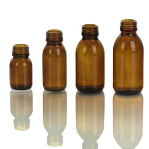 100ML Amber glass bottle for syrup DINPP 28MM