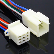 9 Pin Way Electrical Wire Connector Plug Set auto connectors with cable/total length 21CM
