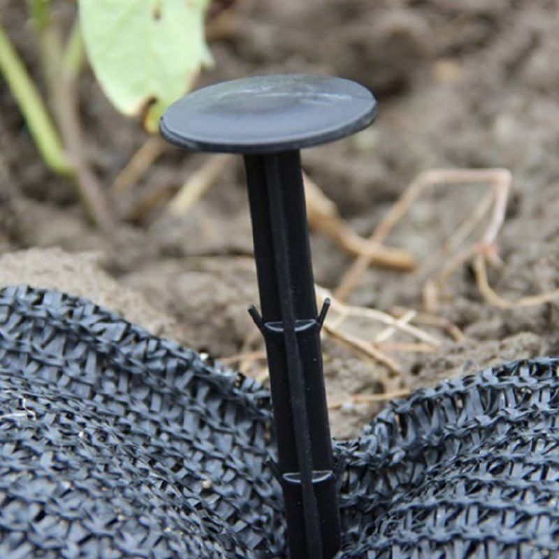Black PP Mulch Shading Pest Control Garden Ground Nail Plastic Film Fixed Pegs Gardening Fixing Tools