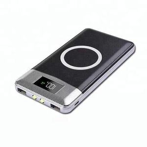 2020 factory supply KD-222 good quality 2 in 1 power bank supply qi wireless power bank 10000mAh Power Bank