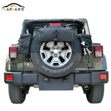 Cartaoo Black Spare Tire Cargo Bag Storage Organizer for Jeep Wrangler TJ YJ CJ JK