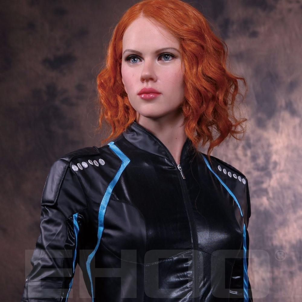 Sexy women action movies figure girl silicone wax statue black widow for display