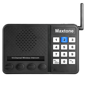 Multi Channel Wireless intercom system 10 channel wireless intercom for home or office,Baby elderly monitor