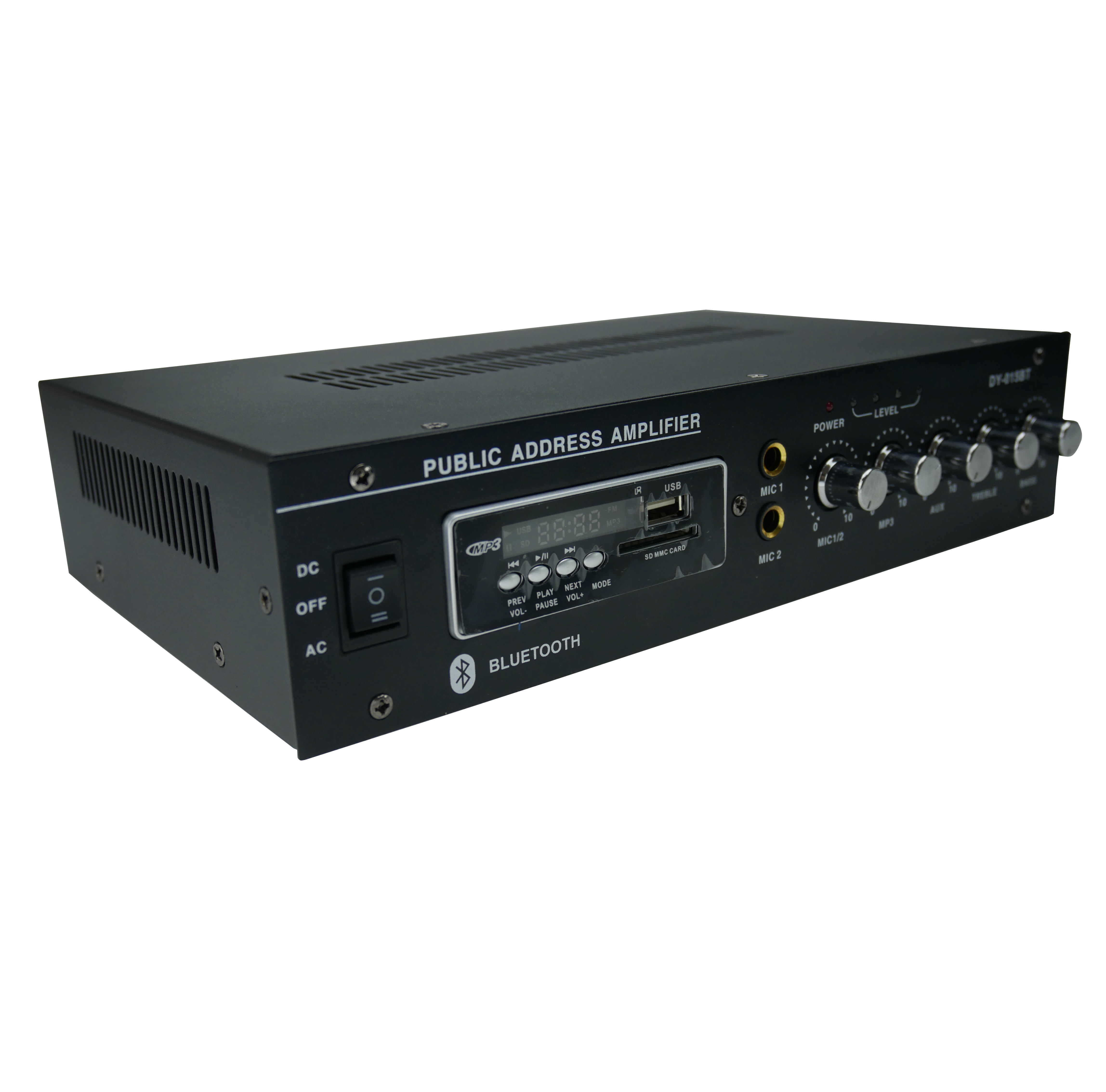 A 2 X30W top sale public address bluetooth amplifier for sound system