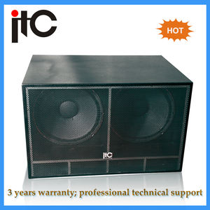 Sistema audio professionale hot dual 18 pollici subwoofer speaker box