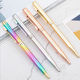 2020 New design metal slim cute custom logo Gradient body plating color rose gold silver pen for lady Rainbow metallic pen