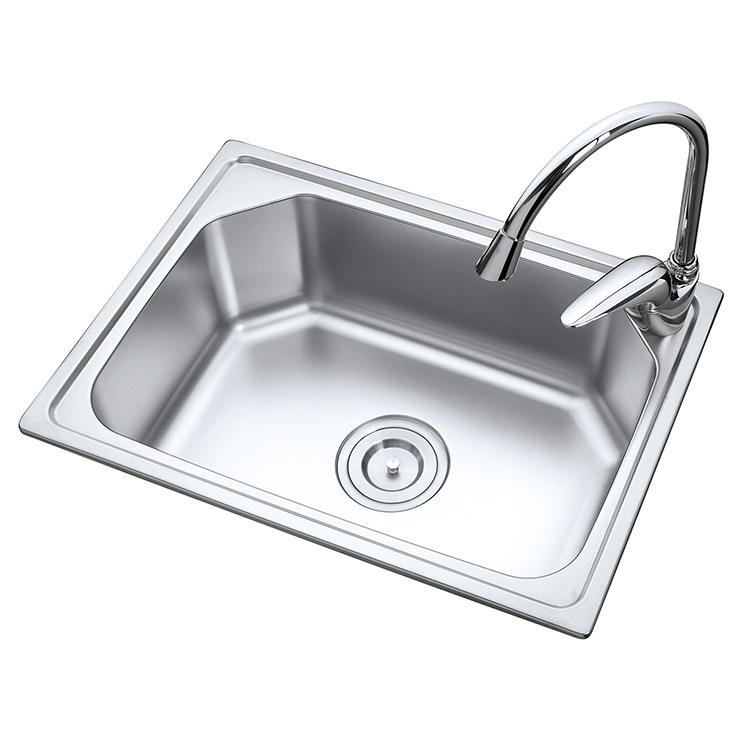 5238 stainless steel single bowl 304 kitchen sink
