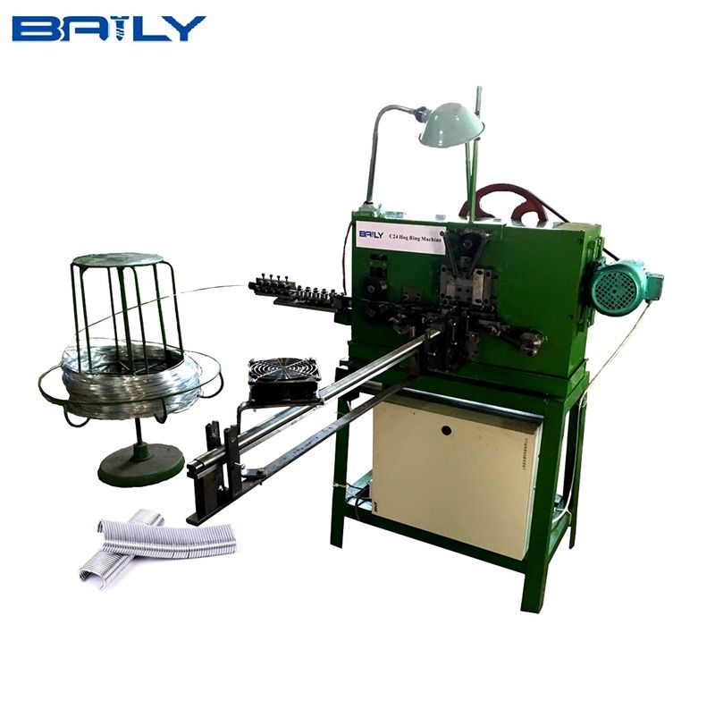 Factory supply C20 / C17/ C24 / C25 / C30 / C45 Hog Ring Staples Making Machine / c type nail machine