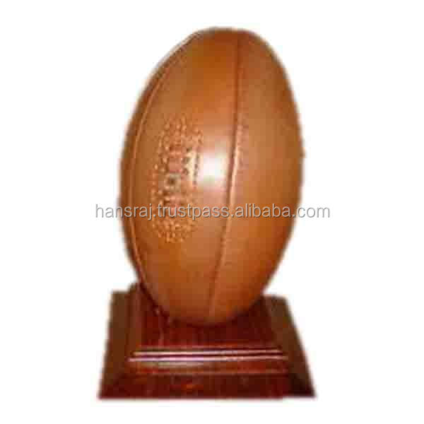 Vintage Rugby Ball with Kicking Tee