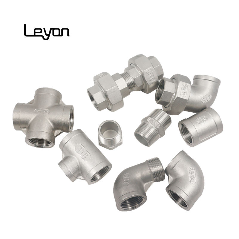 316 stainless steel pipe 6 inch stainless steel 90 degree elbow tee forged fitting 11/2 inch socket weld stainless steel union