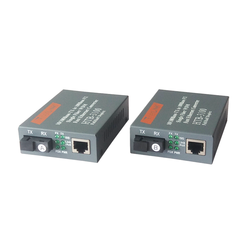 Beste prijs netwerk-switches 10/100M 25km SC single mode sinle fiber Netlink media converter