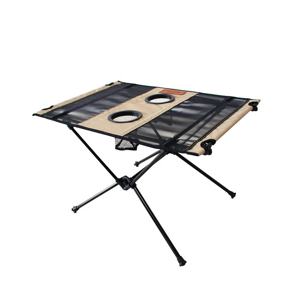 Tianye wholesale Outdoor aluminum ultralight Folding Camping picnic furniture light metal garden portable hiking Table