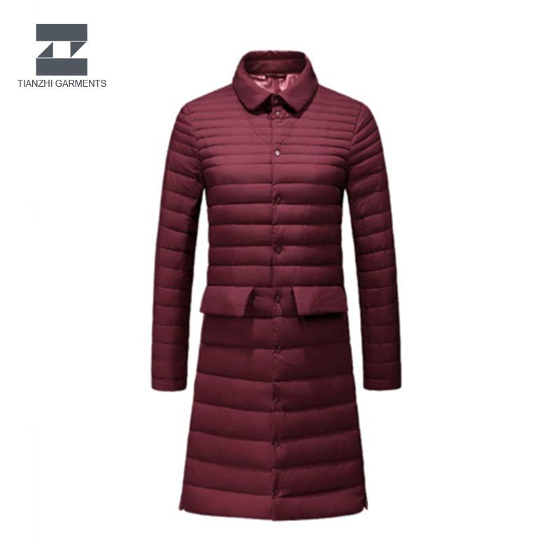 Leading manufacturer women cotton padded clothes long cotton coat