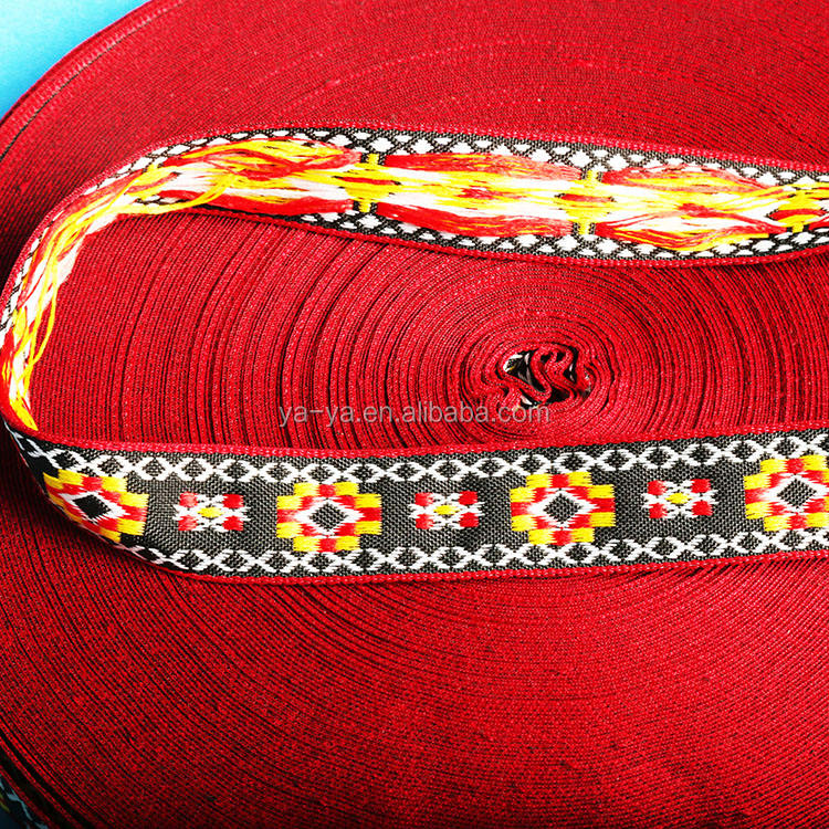 China traditional pattern jacquard webbing for decorate clothes