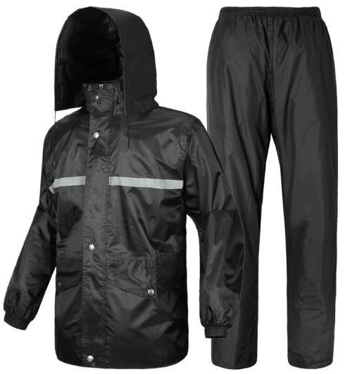 Waterproof Nylon polyester PVC raincoat Rainsuit