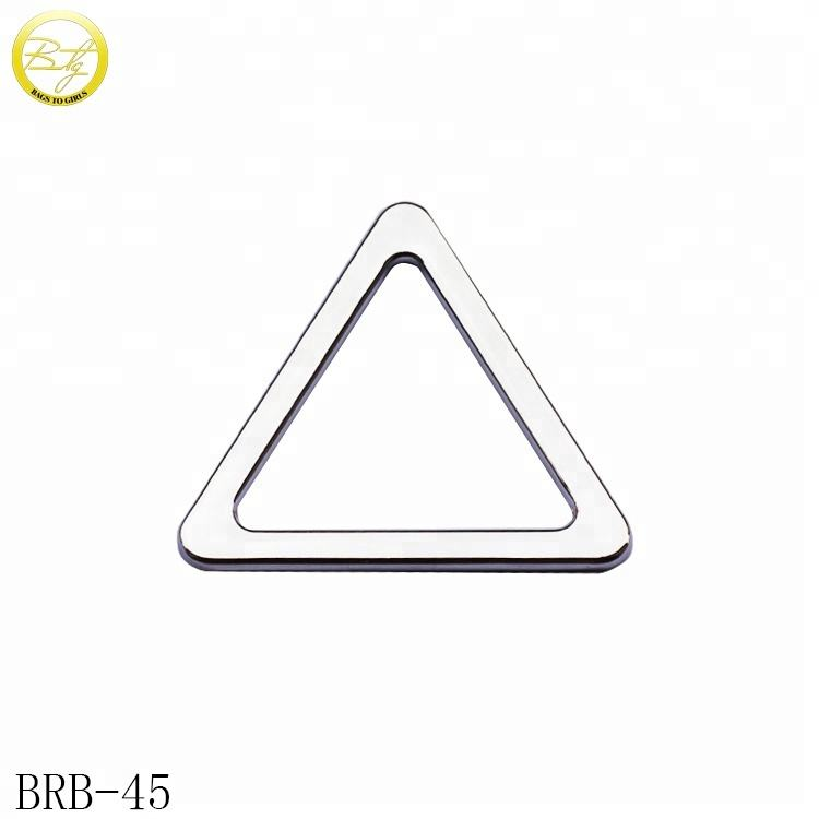 Wholesale triangle shape metal buckle ring strap buckle for bags