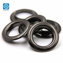 SK nickle free custom different colors sliver copper metal ring curtain eyelet for curtain button
