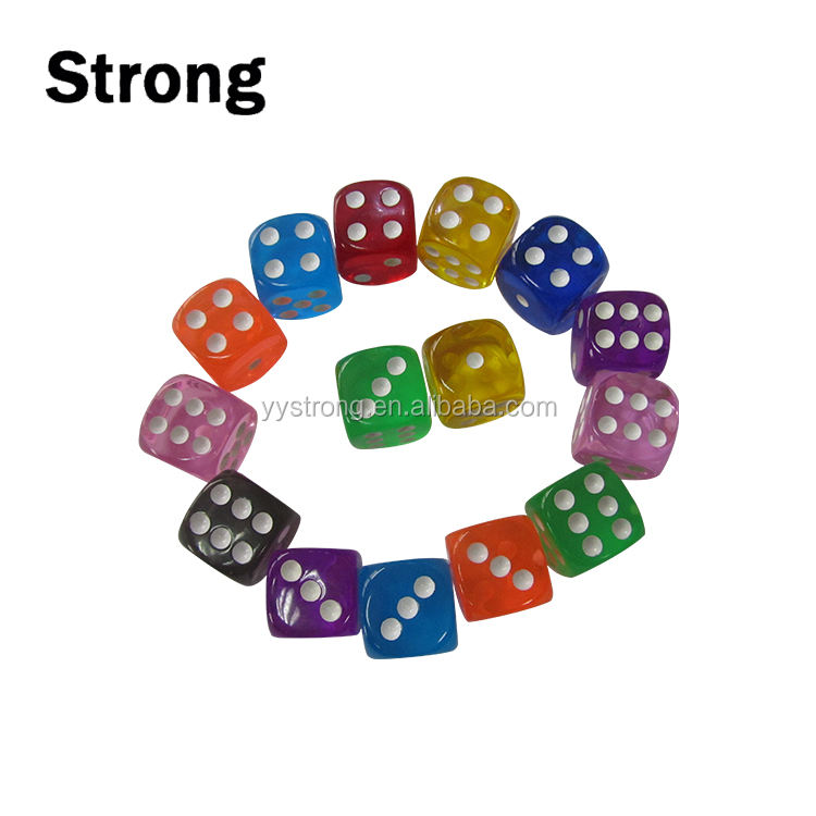 Assorted colors Game dice with round corner