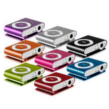Classic Retro Portable Mini Metal Clip MP3 Player Sport Music Player with SD/TF Card Slot
