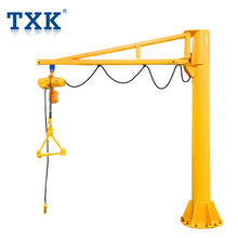 TXK 1 ton Floor Column Mounted Electric Hoist Jib Crane
