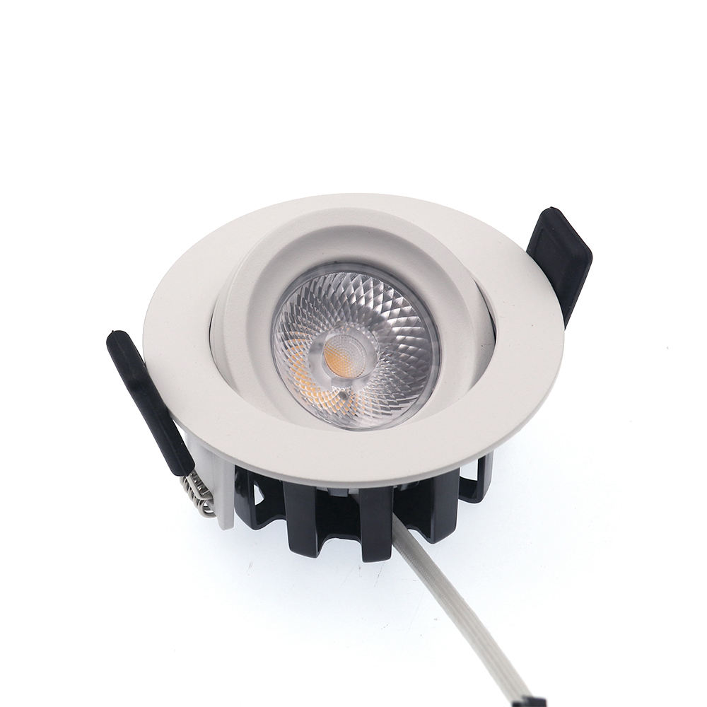 Led Housing 8W Downlights Dimmable Ip65 Adjustable Waterproof Angled Die Cast Ceiling Fire Rated Cob Light Recessed Downlight
