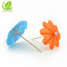 Factory price  Chinese custom paper cocktail umbrella toothpick