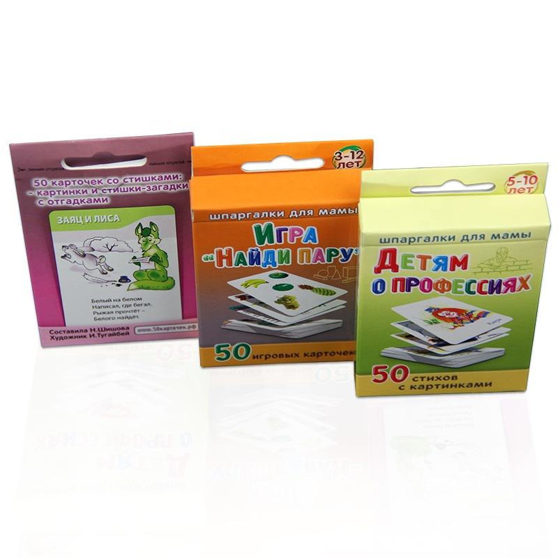 New Arrival Flash Cards Education Kids Spanish Flashcards Printing