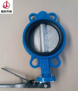 DN250 handle operated EPDM rubber seal wafer concentric butterfly valve