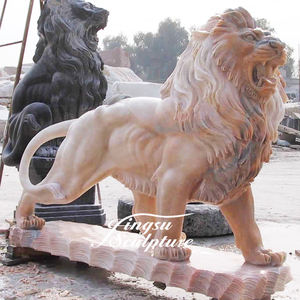 Garden decoration life size stone carving white marble