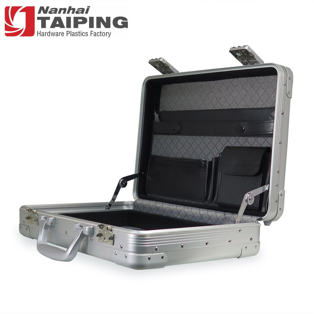 High Quality Silver Aluminum Briefcase Computer Supplies Data Storage Case