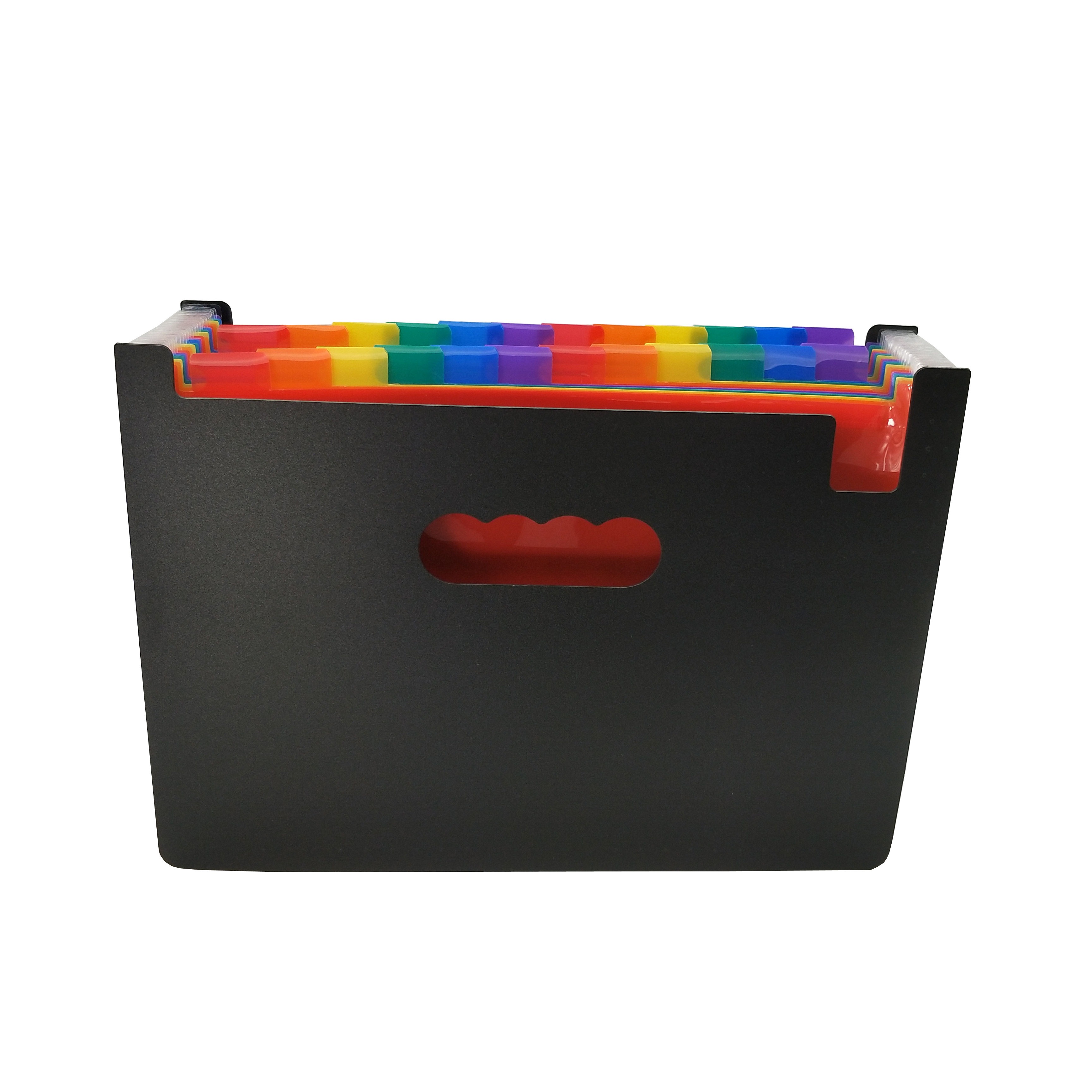 24 Pockets Expanding File Folder Plastic Rainbow Expandable File Organizer Self Standing Accordion A4 Document Folder Wallet