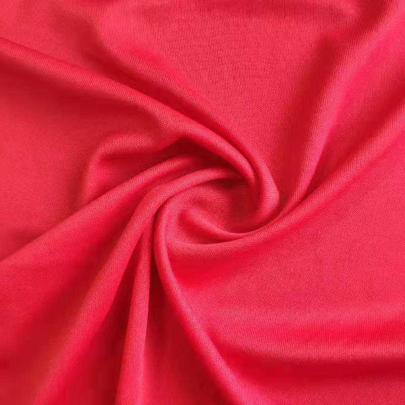 2019 Top design plain dyed Polyester spandex knitting Interlock Fabric for clothes