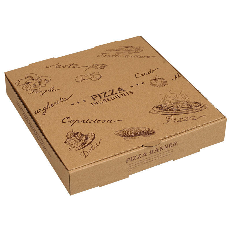 4/6/8/10/12/14 zoll lebensmittel grade sicher material wellpappe pizza box design