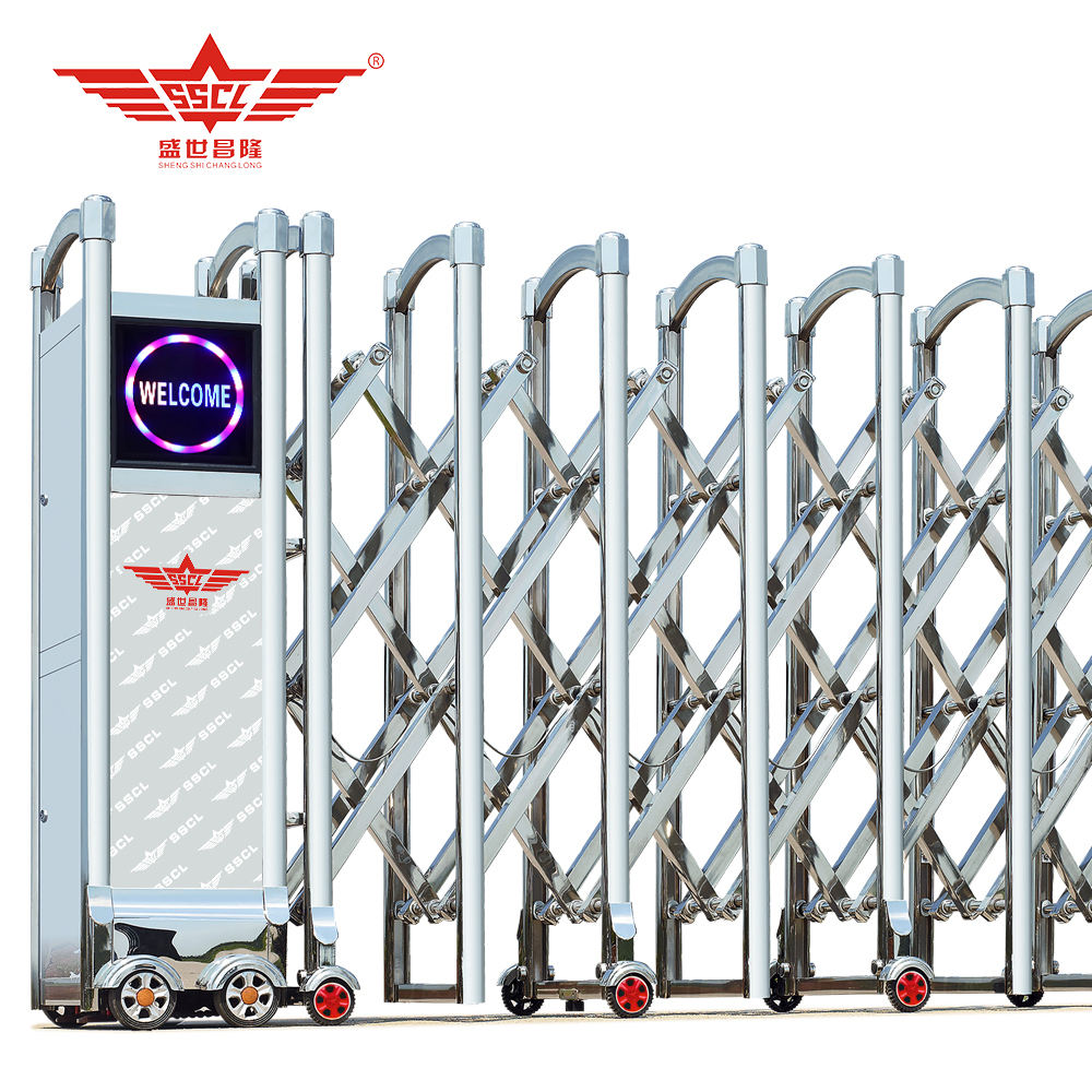 Stainless steel extension collapsible gate with alarm systerm-J1430