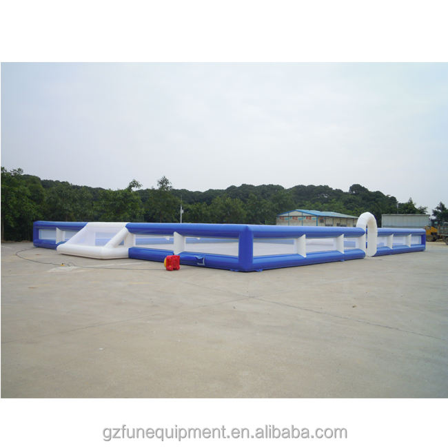 Factory manufacture customized high quality soap football pitch inflatable soccer field giant inflatable soccer field for sale