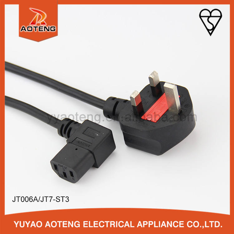 BS 1363 plug 3 pin power extension line with c13 or c14 pvc production line for refrigerator washing-machine water heater